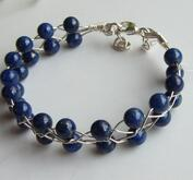 Fltat armband med Lapis Lazuli
